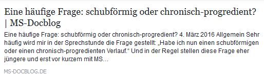 schubförmig o chron progredient